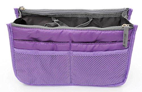 TheWin Travel Organiser Insert Tidy Cosmetic Handbag Purple