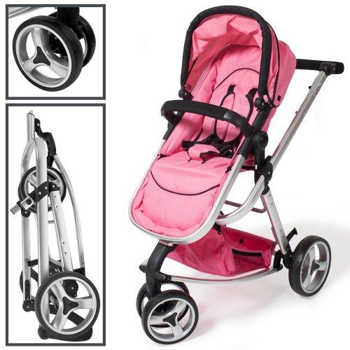 TecTake 3 en 1 Poussette Canne de Voyage Voiture d'Enfants Baby Confort Jogger - diverses couleurs au choix - (Rose)
