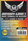 "100 Mayday 55 x 80 ""Race! Formula 90"" Board Card Game Sleeves"