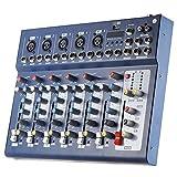 Asdomo F7-USB Ligne audio numérique 7 canaux Console de mixage audio Console de...