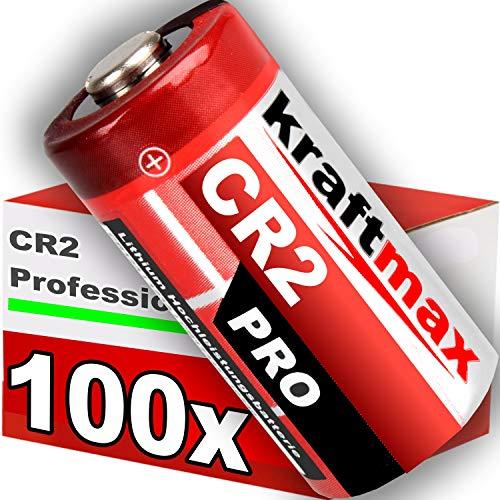kraftmax 100er Pack CR2 Lithium Hochleistungs- Batterie für professionelle Anwendungen - Neueste Generation