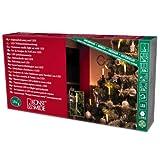 Konstsmide 1120-010 LED Baumkette mit Schaftkerzen /  für Innen (IP20) /  230V Innen / 15 warm weiße Dioden / grünes Kabel