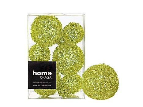 ASA selection fil de 9 boules décoratives vert