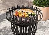 Kamino Flam Grill und Feuerkorb Nika, Feuerschale mit Grillrost, runder Gartenkamin mit Dreibein-Gestell, schwarz, pulverbeschichtetes Stahlblech Test