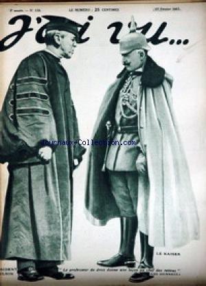 Président Wilson Le Kaiser : Le professeur de droit donne une leçon au chef des reitres par J'ai vu N° 118 du 17 février 1917