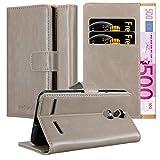 Cadorabo Hülle für Lenovo K6 / K6 Power in Cappuccino BRAUN - Handyhülle mit Magnetverschluss, Standfunktion & Kartenfach - Case Cover Schutzhülle Etui Tasche Book Klapp Style