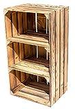 Geflammter Hochschrank mit 2 Böden 75x40x31cm