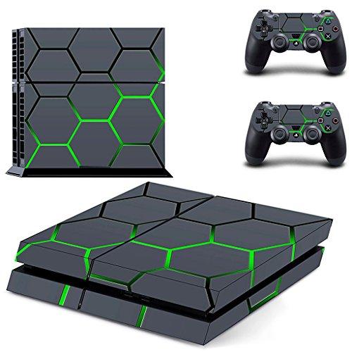 H HILABEE Skin Aufkleber Cover Für PS4 Playstation 4 Konsole und Controller Aufkleber Set - Geometrische