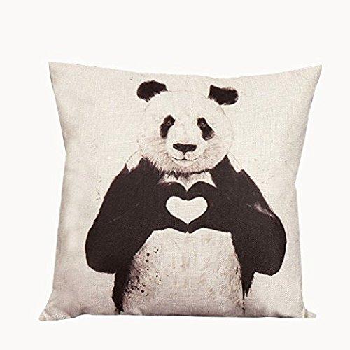yeah67886Leinen Chinesische Panda bedruckt Sofa Überwurf Kissen Fall Kissenbezug für Home Decor Kissen Sectional Sofa