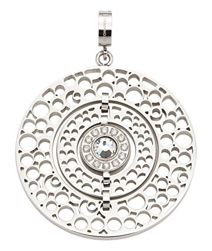 Jewels by Leonardo DARLIN\'S Damen-Anhänger Gina, Edelstahl mit Kristallsteinchen und Zirkonia, CLIP & MIX System,Größe (B/H/T): 40/51/8 mm, 016711