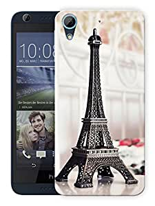 """Humor Gang Eiffel Tower Love Printed Designer Mobile Back Cover For """"HTC DESIRE 728"""" (3D, Matte Finish, Premium Quality, Protective Snap On Slim Hard Phone Case, Multi Color)"""