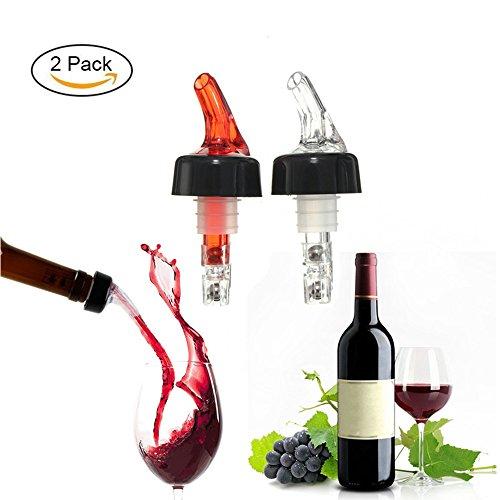 4EVERHOPE 2pcs Medir los Pourers de licor, 30 ml/1 oz Quick Shot Spirit Wine Measure Pourer Dispensador de cócteles de vino Herramientas de barra casera