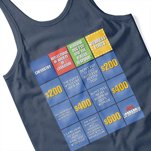 Billy Madison Jeopardy Board Quotes Women's Vest Navy blue