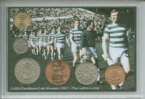 Glasgow-Celtic-Bhoys-Hoops-The-Lisbon-Lions-Vintage-European-Cup-Final-Winners-Retro-Coin-Present-Display-Gift-Set-1967