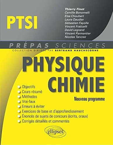 Physique Chimie PTSI Programme 2013 by Thierry Finot (2013-09-03)