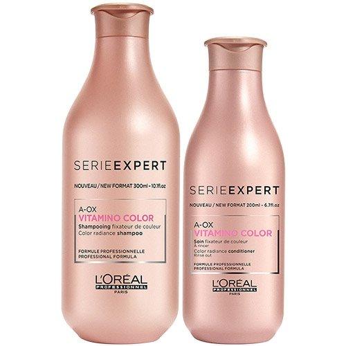 L'Oréal Professionnel Serie Expert Vitamino Color A-OX Haarshampoo zu 300 ml, Conditioner zu 200 ml, 2er-Set -