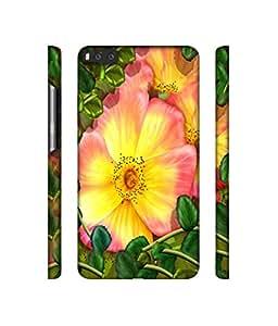 NattyCase Flower Design 3D Printed Hard Back Case Cover for Xiaomi Mi6
