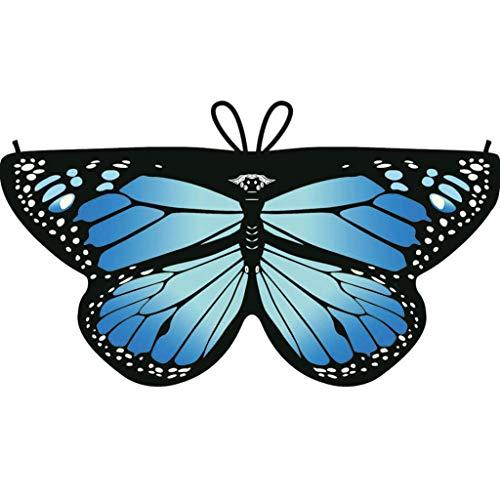 Dragon868 Heißer Cosplay Party Schmetterlings flügel Schal Schals Nymphe Pixie Poncho Karneval Kostüm Zubehör Kind Kinder Jungen Mädchen böhmischen Print 118*47cm ()