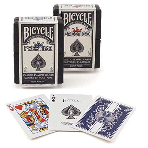 Conjunto de 2 cubierta Dura-flex bicicleta prestigio naipes plástico - 1 rojo, 1 azul 2 Deck Set Bicycle Prestige Dura-flex Plastic Playing Cards - 1 Red, 1 Blue