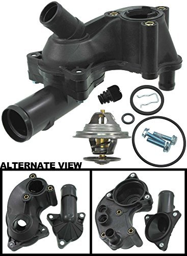 apdty-013321-thermostat-complete-with-upper-lower-plastic-water-outlet-housing-fits-2005-2010-ford-m