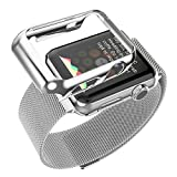 Apple-Watch-Band,-Biaoge-Steel-Milanese-Loop-Replacement-Wrist-Band-with-Plated-Case-for-Apple-Watch-(Silver-42mm)