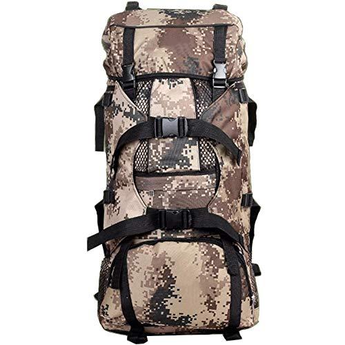 HUShjsd Rucksack , 90L Camouflage-Tasche mit großer Kapazität Armee-Rucksack Outdoor-Wanderrucksack-Tasche Reise-Kletterrucksäcke, Bookbag Lässiger Wanderreiserucksack (Color : C)
