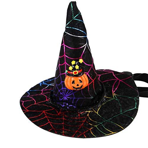 Clacce Halloween Hund Katze Kostüm Für Haustier Nette Hut Kappe Mit Cosplay Kostüm Welpen Decor Hüte Für Kleine Katze - Kostüm Harte Hüte