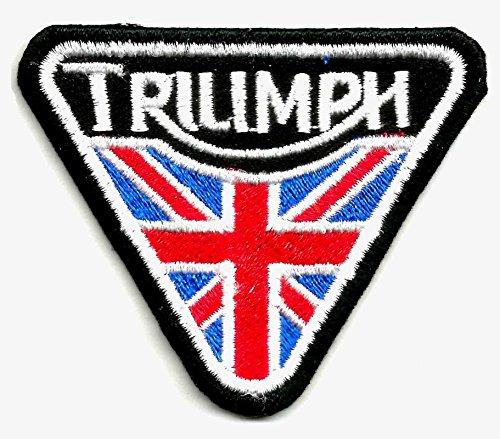 Bandiera britannica motorcycles logo sign symbol triumph di union jack regno unito uk | ricamo alta qualità patch iron on sew on patch ricamato distintivi per abiti giacche, cappotti cappelli borse borse