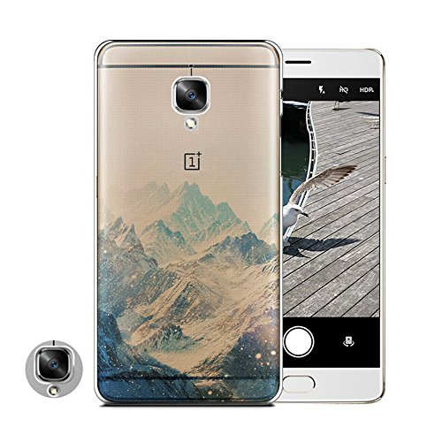 oneplus-3-case-heyqietm-thin-transparent-tpu-silicone-snow-mountain-landscape-pattern-soft-back-phon