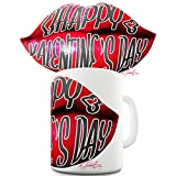 Trenzado Envy San Valentín labios cerámica taza de té