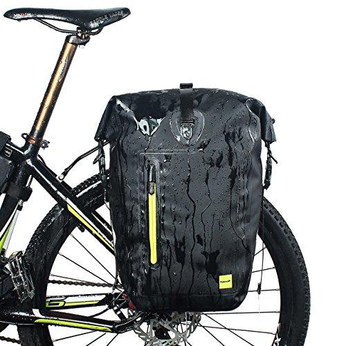 Suntime Fahrradtasche Wasserdichte Fahrrad Tasche Rücksitz Koffer Tasche Bike Cargo Pack Schultergurt Tasche Handtasche Outdoor Reise Tote 25L