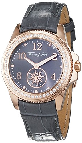 Thomas Sabo Women's Watch Glam Chic Rose Gold Grey Analogue Quartz