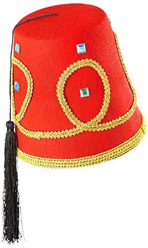 Widmann–Sombreros Fez Lusso–de fieltro Mens, color rojo, talla única, vd-wdm1413F