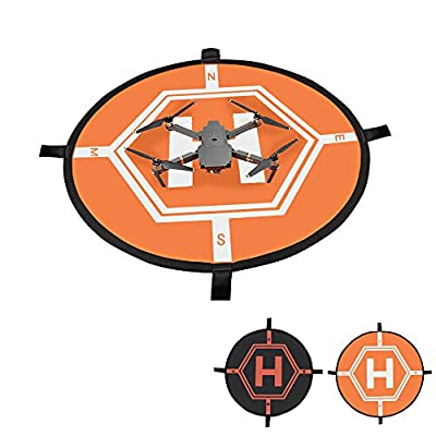 OTraki Drone Landing Pad 80cm Double Side Double Color Helipad Mat Fast-Fold Portable DJI Lanuch Pads Waterproof Large Dronepad for Spark / Mavic Pro / Phantom 4 / Inspire