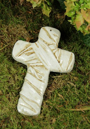 Grabkreuz en laiton antique