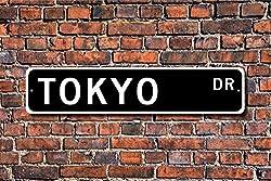 Jeartyca Tokyo Sign Tokyo Visitor Tokyo Souvenir Japans Hauptstadt, Tokio, Native Street Sign Art Wall Decor Aluminium Metal Sign 45 x 10 cm Metal Sign Funny Aluminium Sign for Garage Home Yard