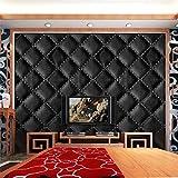 Quaan 3D Jahrgang Leder strukturiert Tapete PVC Wandgemälde Realistisch Aussehen Wasserdicht Schlafzimmer Dekor DIY Mauer Aufkleber Zuhause Küche Möbel Spiegel Windows Tür Gemälde (300cm x 40 cm, A)