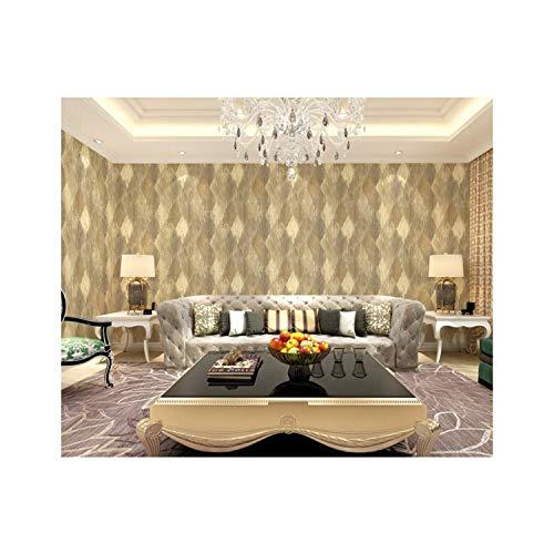 Tapeten-Weinlese-amerikanischer Landhausstil Plaid-PVC-Tapete-Einfachheit-Wand-Dekoration Verwendbar...