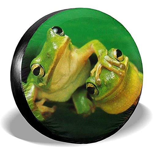 LAURE Tire Cover Coperture per Pneumatici di Ricambio Green Frog1