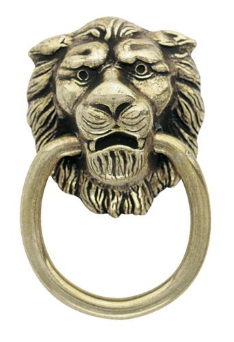 Lion Ring-pull (Amerock Traditional Classics Lion Head Ring Pulls - Antiqued Brass by Amerock)
