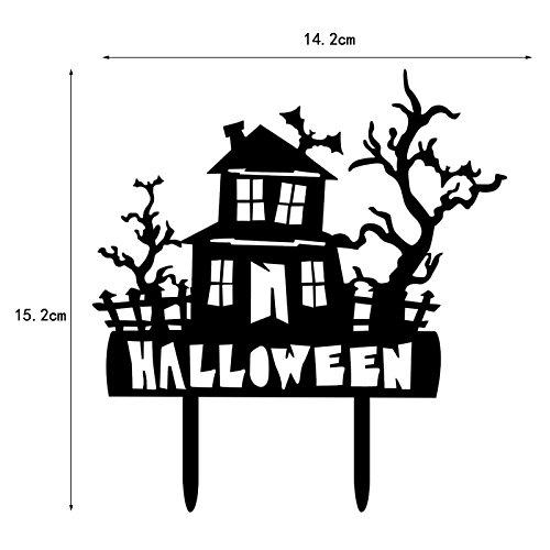 en Kuchen Topper Cartoon Haunted Haus für Halloween Party Kuchen, schwarz Dekoration, 14,2x 15,2x 0,2 (Halloween-kuchen-dekoration Walmart)