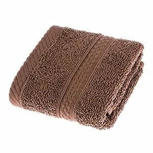 Homescapes Serviette de toilette EPONGE (30 x 30cm) de LUXE pour le visage. Pur Coton Peigné ULTRA DOUX, 500gm². Couleur CHOCOLAT uni