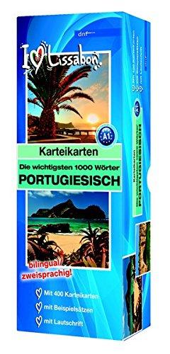 Karteikarten - Die wichtigsten 1000 Wörter, Portugiesisch: Niveau A1 bilingual / zweisprachig