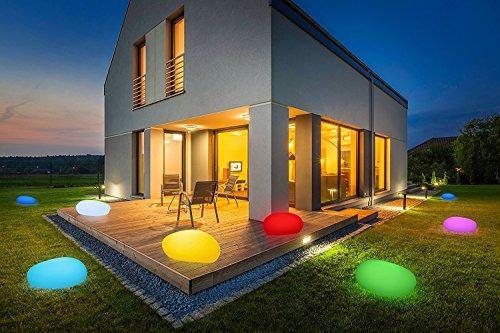 Bonetti LED Solar Gartenleuchte Stein / 8 Farben / optionaler Farbwechsel / 50 cm / IP67 / RGB / Solarlampe / Dekoleuchte / Außenleuchte / Gartenlampe / Dekostein / Leuchtstein / Stone