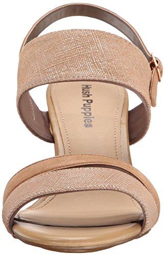 Hush Puppies Women's Molly Malia Dress Sandal, Tan Scratched Leather, 10 M US Tan Scratched Leather