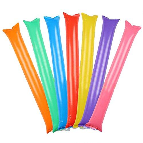 KOONARD 10pcs Inflatable Cheer Sticks cheerleaders Inflatable Stick Against Cheering Sticks Noise Maker ballon concert party Supplies  Orange
