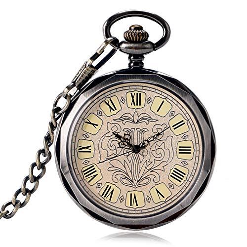 DYH&PW Taschenuhr Exquisite mechanische taschenuhr offenes Gesicht Krankenschwester Uhr römischen ziffern Kette stilvolle männer handaufzug Halskette