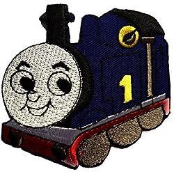 Toppe termoadesive - Thomas The Tank Train Baby bambini - blu - 8,7x7cm - Patch Toppa ricamate Applicazioni Ricamata da cucire adesive