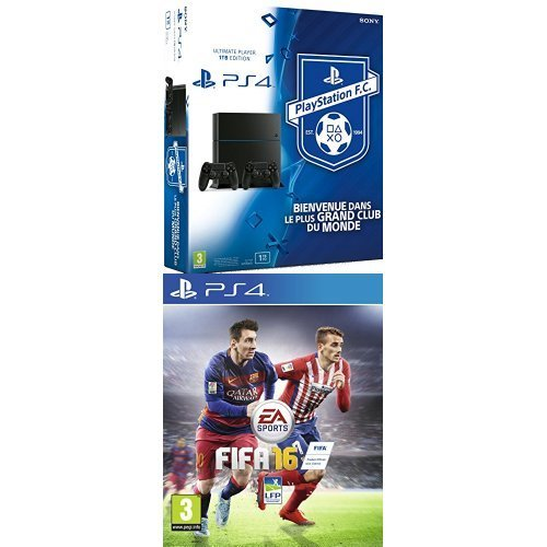 Pack PS4 1 To + 2 manettes + Fifa 16