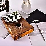 Wendy 17 Tasten EQ Kalimba solide Akazie Daumen Piano Link Lautsprecher elektrische Tonabnehmer mit Tasche Kabel.